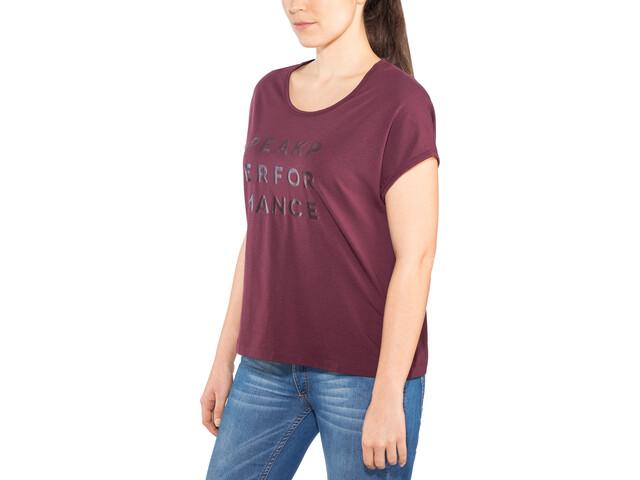 Peak Performance Ground Cap T-shirt Femme, wine